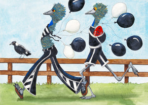 "Sports ""Black & White Army"" Football Watercolour"