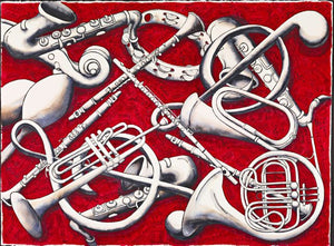 "Musical Instruments Watercolour - ""Musical Tunes"""