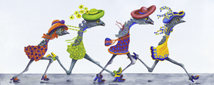 Five Different Kicking-Up-Your-Heels!! Greeting Card Set