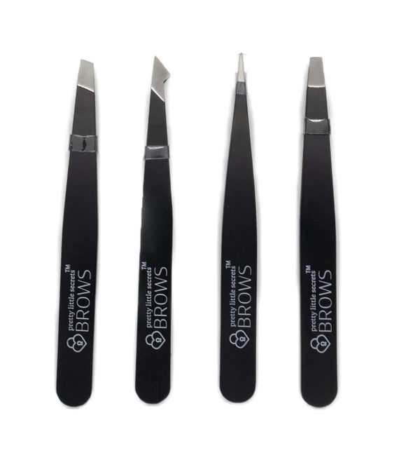 Stainless Steel Brow Tweezer Set-Pretty Little Secrets