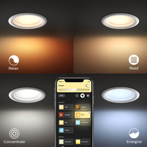 Philips Hue White Ambiance Garnea Downlight - 90mm