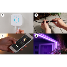 Load image into Gallery viewer, Philips hue outdoor lightstrip shots