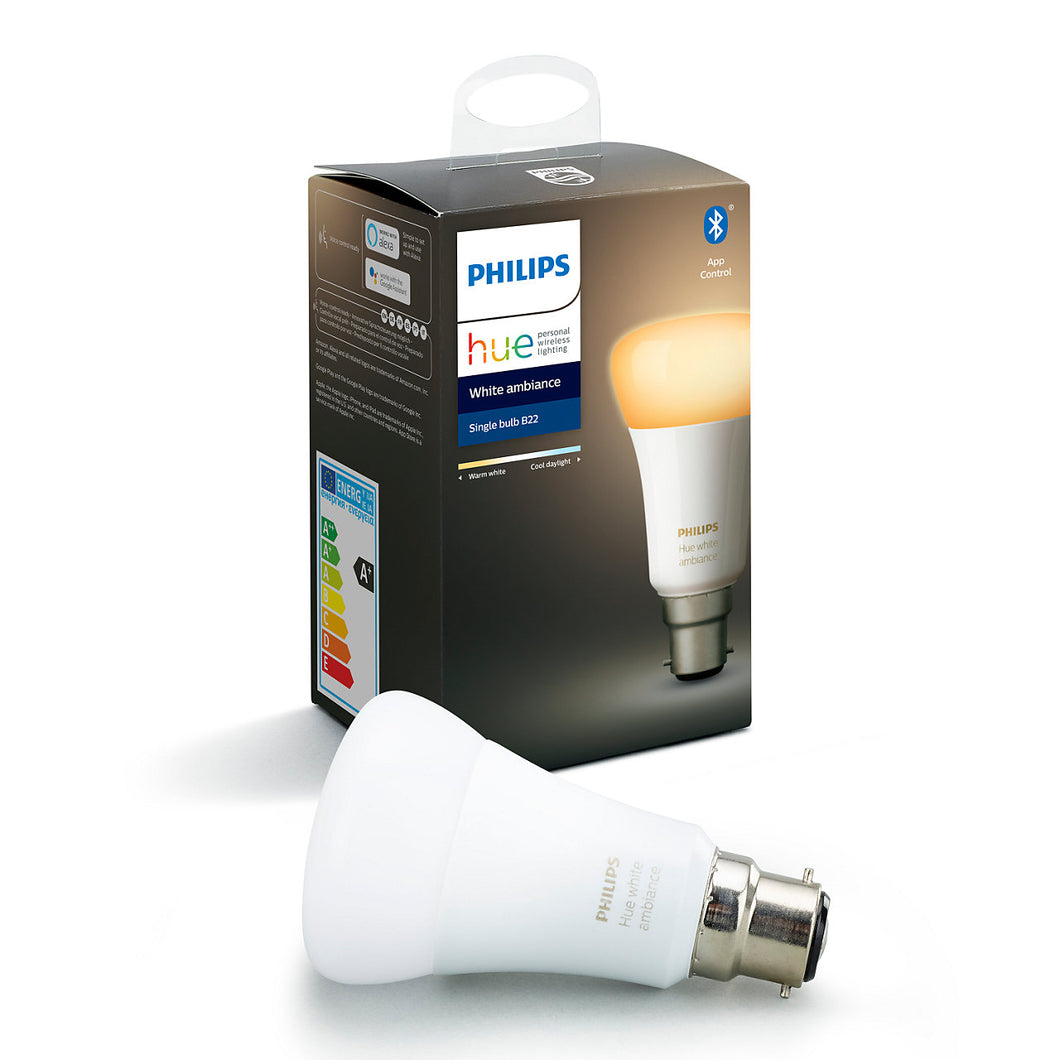 Philips Hue White Ambiance Bluetooth B22