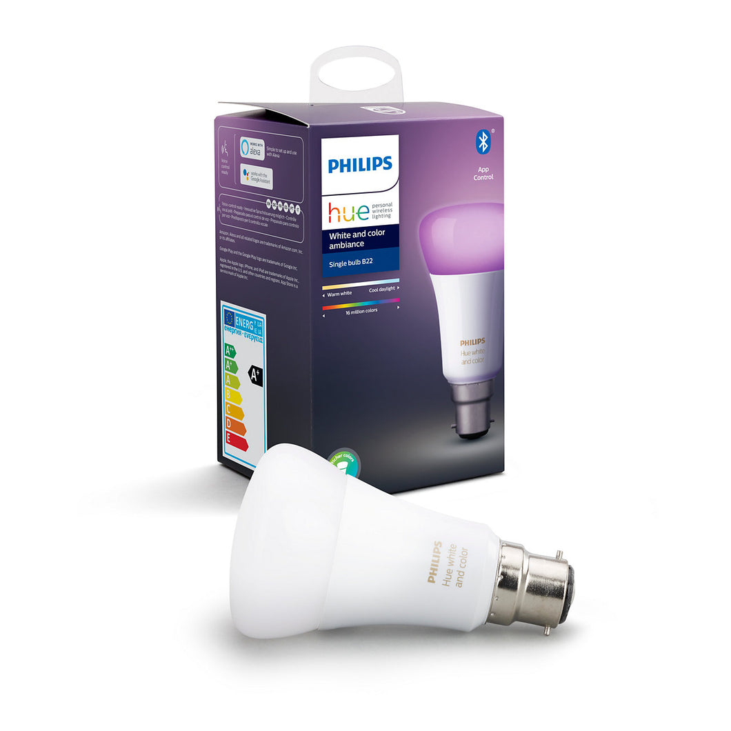 Philips Hue White & Colour Bluetooth B22