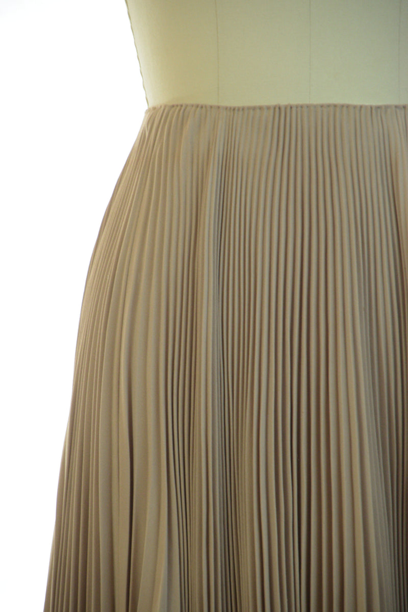 Dramatic Late 1940s Perma-Pleated Silk and Rayon Skirt by Beverly Hills Couturier Bess Schlank