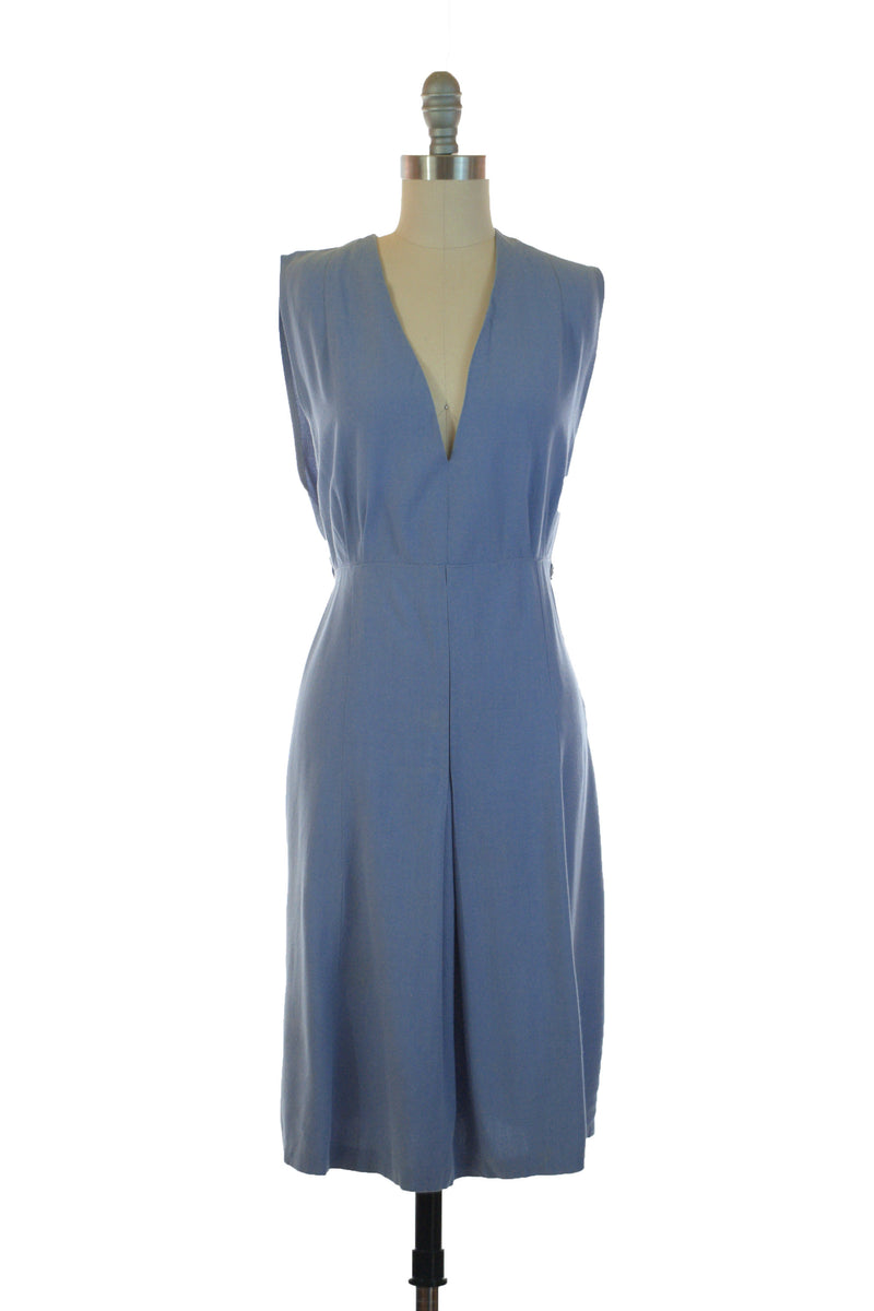 Darling Original 1930s/40s Pinafore Jumper in Cornflower Blue Gabardine