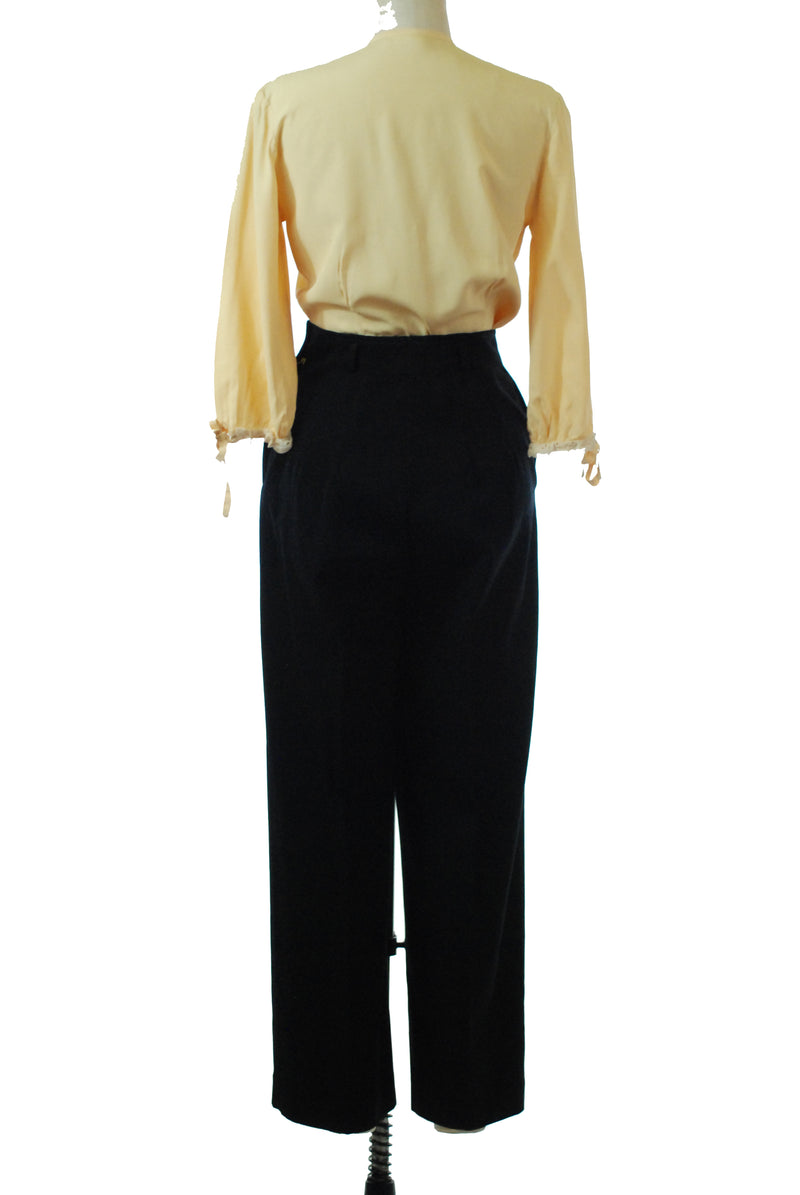Rare 1940s Wide Legged Gabardine Sportswear Trousers by Graff