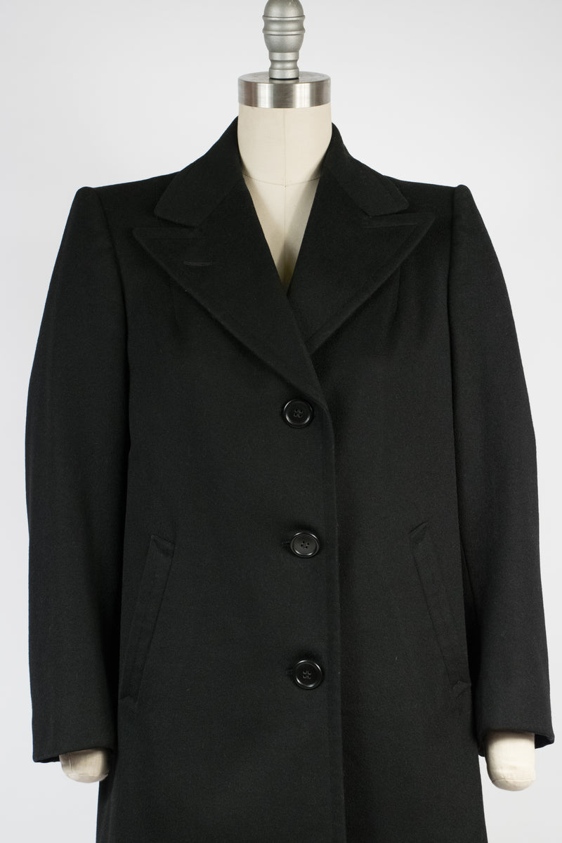 Ideal Early 1940s Tailored Coat with Peaked Lapels and Arm Straps by Hart, Schaffner and Marx