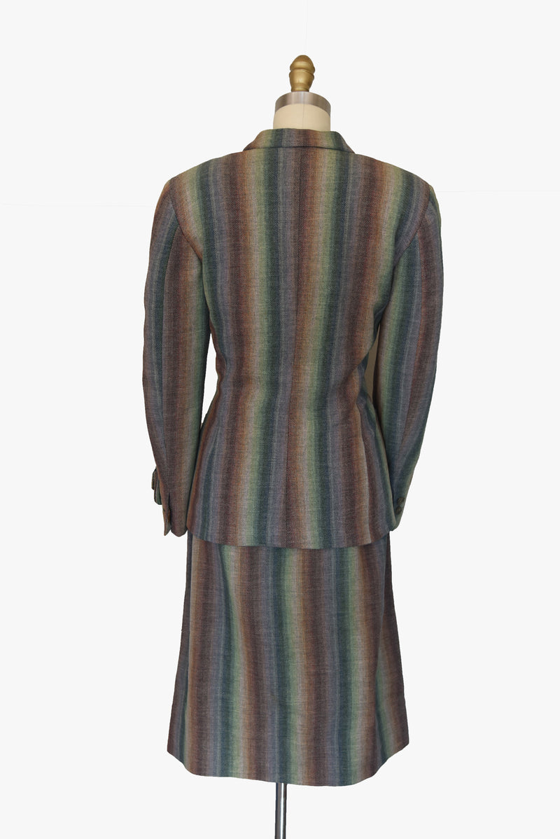 Layaway Deposit for Smart 1940s Rainbow Striped Suit with amazing tailoring and Details.