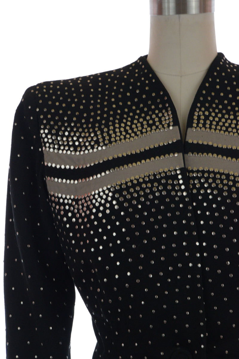 Layaway Deposit for Rare 1940s Fred Block Studded Suit Jacket with Contrast Colorblock Bands
