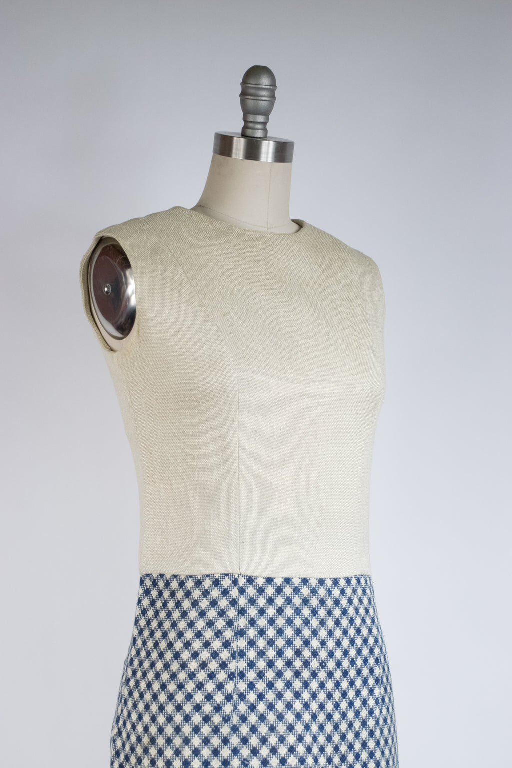 1960s Designer Jacques Heim Dress Set with Gingham Plaid Jacket and Skirt