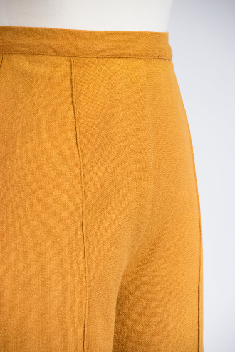 Rich 1960s Cropped Cigarette Pants in a Toasted Butterscotch Hue