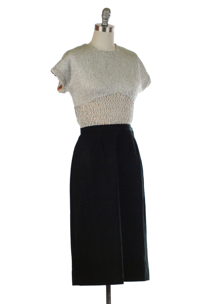 Elegant 1958 Claire McCardell Clothes by Townley Woven Tapestry Day Dress