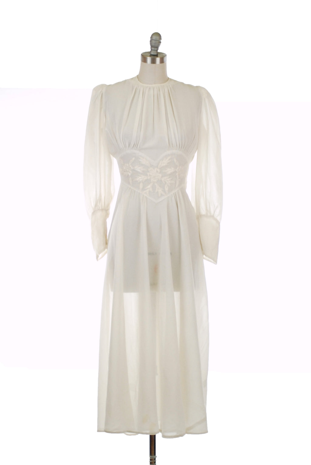 LAYAWAY DEPOSIT for Heartbreaking Late 1930s Sheer Wedding Dress or Evening Gown with Heart-Shaped Midwaist