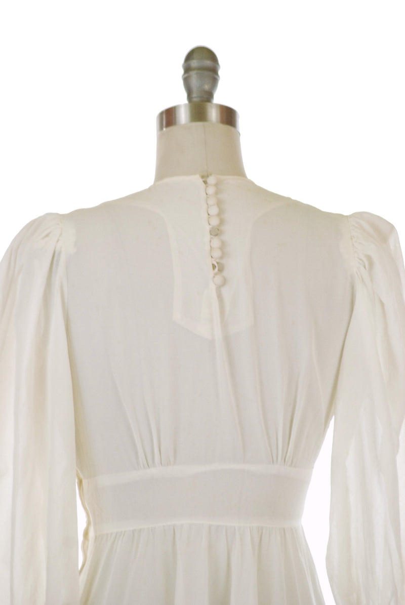 RESERVED on Layaway- Heartbreaking Late 1930s Sheer Wedding Dress or Evening Gown with Heart-Shaped Midwaist