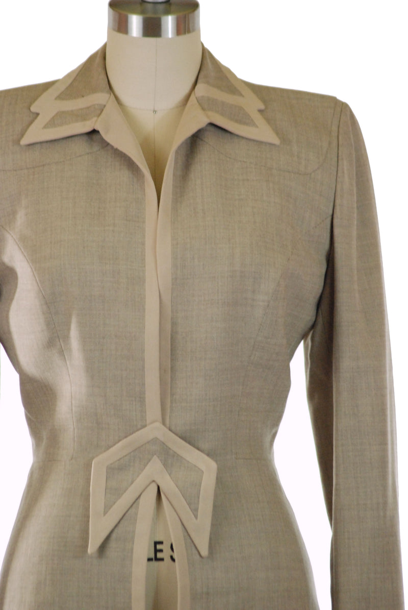 Smart Late 1940s/Early 1950s Gene Shelly Tailored Suit Jacket with Smart Details