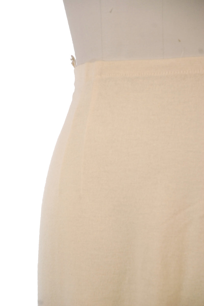 Classic 1950s Flat Knit Skirt in Ivory by Webfoot/Jantzen