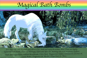 Customizable Unicorn Bath Bomb Set