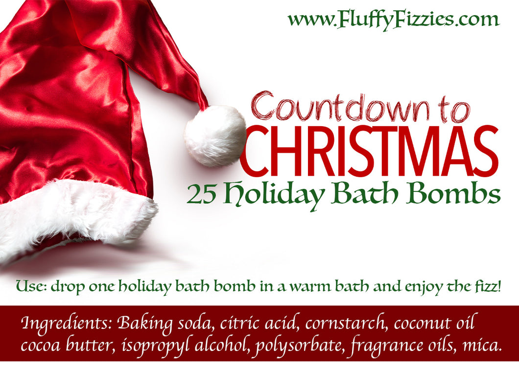 Countdown to Christmas Bath Bomb Set