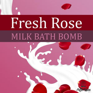 Fresh Rose Milk Bath Bomb