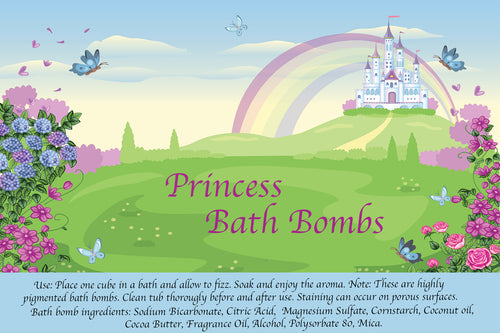 Customizable Princess Bath Bomb Set