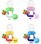 Baby Fruit Feeder Pacifier - Fresh Food Nibbler, Infant Fruit Teething Toy, Silicone Pouches for Toddlers & Kids