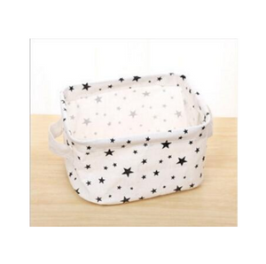 Square Canvas Bins - Small Size  Foldable Storage Bin Basket
