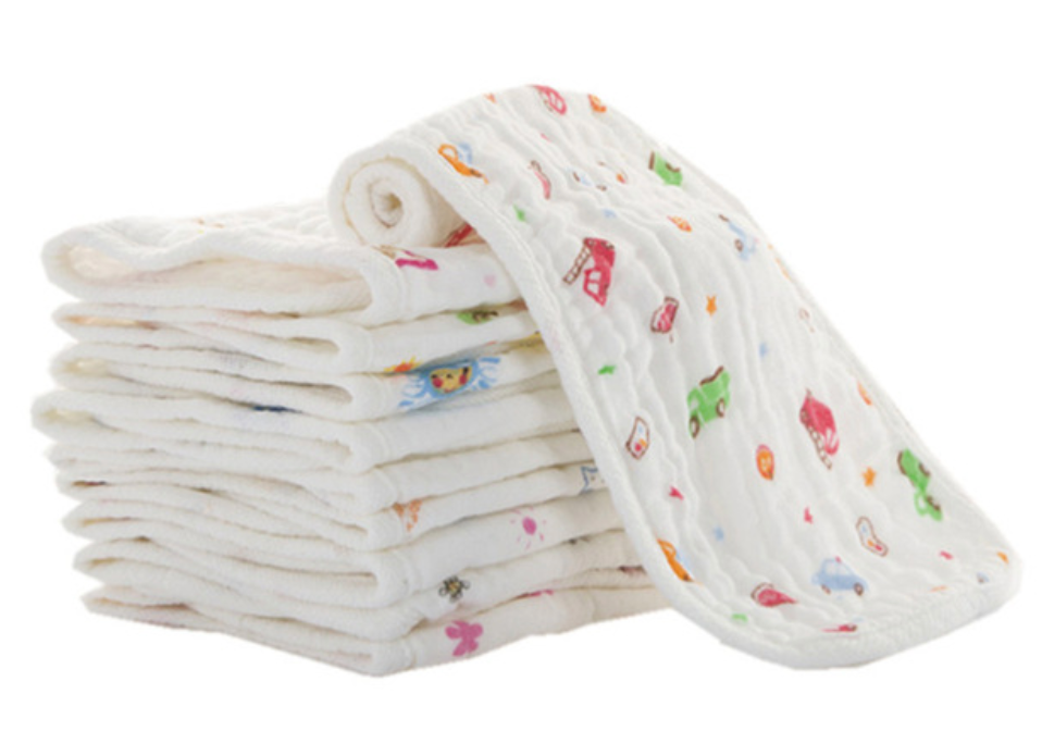 Soft Multi Functional Burp/Wash Cloth- 15x45cm