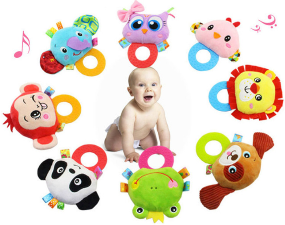 Plush Stuffed Animal -Toy Rattle/Teether