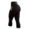 7/8 Length Womens Scrunch Bum Tights Globe Logo