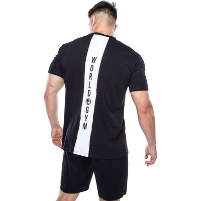 Mens Stretch Tee with Panel Back
