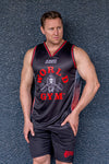 Mens Red Jersey Singlet 4XL