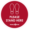 Floor Stickers - Please stand here