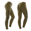 3/4 Length Womens Tights - World Gym Logo