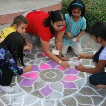 Creating Rangoli Patterns for Diwali With Kids