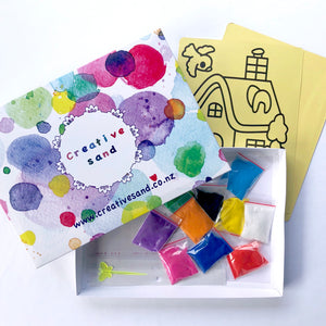 Sand Art Kit (with Two Template Cards)