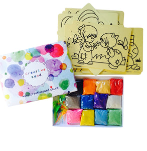Sand Art Party Pack for 20 (with Template Cards)