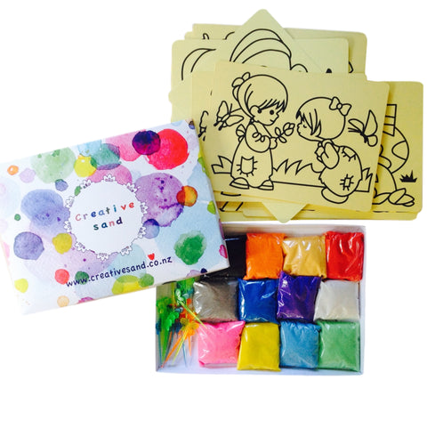 Sand Art Party Pack for 30 (with Template Cards)