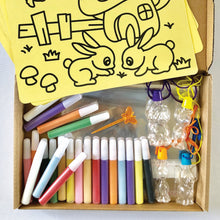 Sand Art Kit (with 4 Template Cards + 4 Necklace Containers)