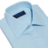 Classic Fit, Classic Collar, Double Cuff Shirt in a Plain Ice Blue Poplin Cotton