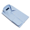 Classic Fit, Classic Collar, Double Cuff Shirt in a Plain Sky Blue Hairline Cotton