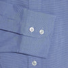 Classic Fit, Cutaway Collar, 2 Button Cuff Shirt in a Plain Navy & White Micro Houndstooth Cotton
