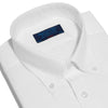 Classic Fit, Button Down Collar, 2 Button Cuff Shirt in a Plain White Oxford Cotton