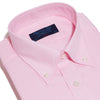 Classic Fit, Button Down Collar, 2 Button Cuff Shirt in a Plain Pink Oxford Cotton