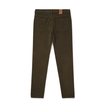 Olive Brushed Cotton Jeans