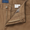 Plain Camel Brown Brushed Cotton Jeans