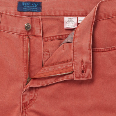 Plain Boston Mandarin Brushed Cotton Jeans