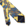 Yellow Large Paisley Printed Silk Tie