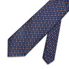 Navy & Yellow Small Flowers Printed Silk Tie