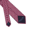 Red Diamonds & Squares Printed Silk Tie